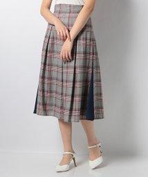 Eimy Peal by POWDER SUGAR/グレンチェックサイド配色スカート/501949098