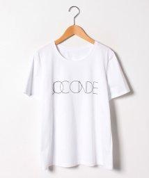 GUEST JOCONDE/【大きいサイズ】【洗える】コットン天竺/ロゴプリントTシャツ/501955406