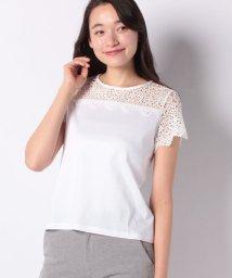 LAPINE BLEUE/【洗える】ケミカルレース切替Tシャツ/501955418