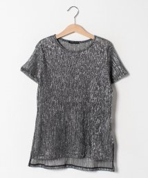 SISLEY YOUNG/シルバーラメ半袖Tシャツ・カットソー/501948213