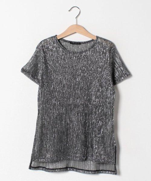 SISLEY YOUNG(シスレーヤング)/シルバーラメ半袖Tシャツ・カットソー/19P3Y8HC144R