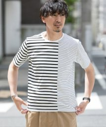 URBAN RESEARCH/【ROSSO】切替ボーダーTシャツ/501931381