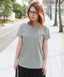 SocialGIRL/シンプルワッフルクルーネックポケットTシャツ/501945914