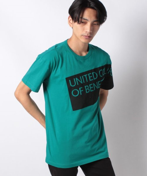 BENETTON (mens)(ベネトン(メンズ))/ヘリテージロゴ半袖Tシャツ・カットソー/19P3U53J13D2
