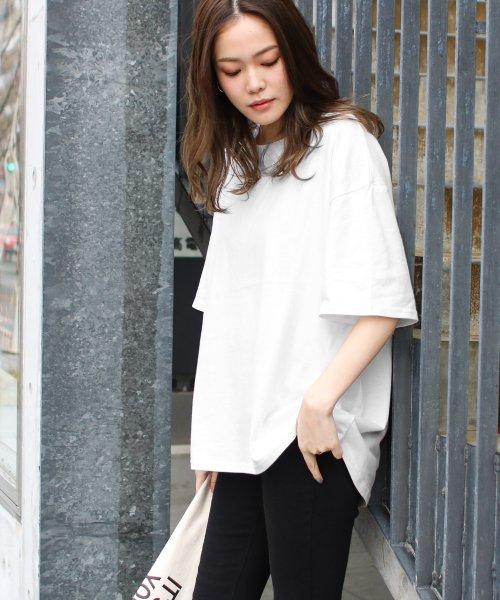SocialGIRL(ソーシャルガール)/シンプルベーシックコットンUネックTシャツ/509-90