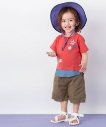 petit main/星アップリケ裾シャツレイヤード風Tシャツ/501954208