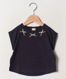 petit main/チェリーモチーフラグランTシャツ/501954212