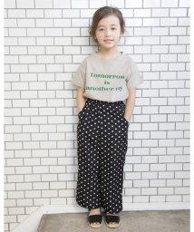 b-ROOM/ワイドロゴプリントTシャツ/501957190