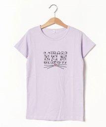 b-ROOM/【WEB限定】パターンプリントTシャツ/501957192