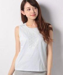 LAPINE BLANCHE/コットン天竺ビーズ刺繍カットソー/501959829