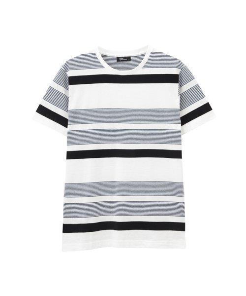 MAC HOUSE(men)(マックハウス(メンズ))/Real Standard マルチボーダーTシャツ 92-7206P-KJ/01222006539