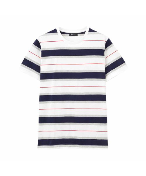 MAC HOUSE(men)(マックハウス(メンズ))/Real Standard マルチボーダーTシャツ  92-7207P-KJ/01222006542