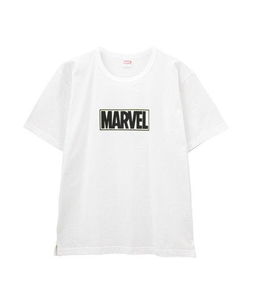 MAC HOUSE(men)(マックハウス(メンズ))/LOVE-T MARVEL ボックスロゴTシャツ 932040MH/01222006561