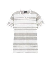 MAC HOUSE(men)/Real Standard マルチボーダーVネックTシャツ 92-7205P-KJ/501965512