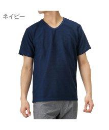 MAC HOUSE(men)/Navy ネイビー 倍速 ドライTシャツ MH/03624SS/501965513
