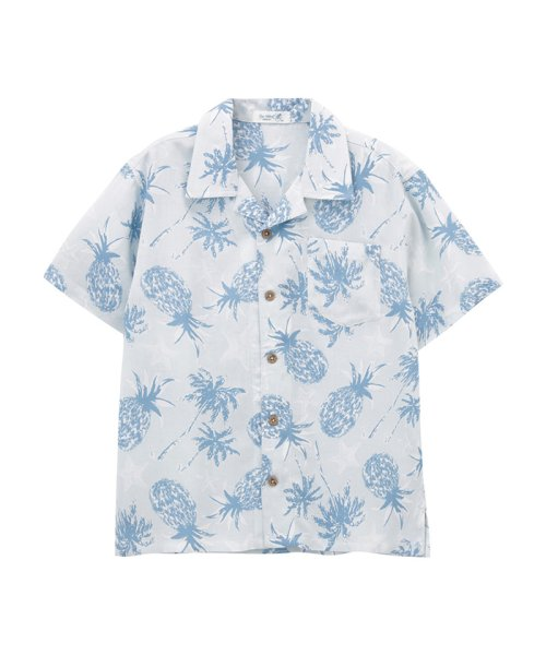 MAC HOUSE(kid's)(マックハウス(キッズ))/Free Nature HAWAII ボーイズ レーヨンアロハシャツ 362573043/03212500013