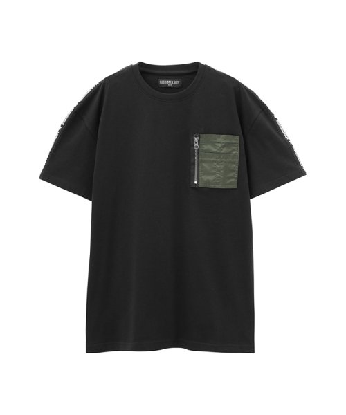 MAC HOUSE(kid's)(マックハウス(キッズ))/RICH MIX ボーイズ ポケット付きTシャツ 362573021/03223000221