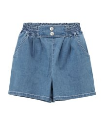 MAC HOUSE(kid's)/Navy ガールズ RUN DENIM COOL デニムキュロット M40818/501965599
