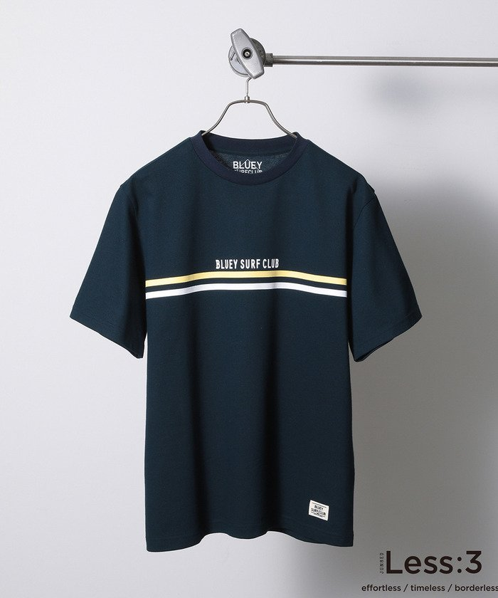 【Less:3×BLUEY SURF CLUB】チェストボーダーT