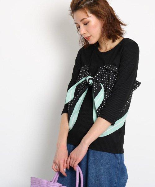 AG by aquagirl(AG バイ アクアガール)/【洗える】スカーフドッキングテレコカットソー/201901C1216527
