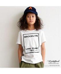 RAT EFFECT/サイドテープボックスプリントTシャツ/501967143