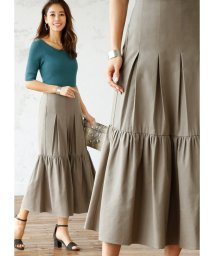 STYLE DELI/コットン混紡裾フレアロングスカート/501967606