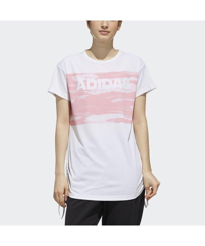 アディダス/レディス/W S2S 半袖 サイド裾絞り紐付きTシャツ