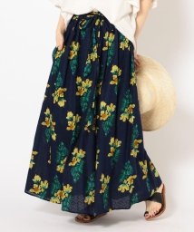 SHIPS WOMEN/【手洗い可能】フラワープリントスカート◇/501968522
