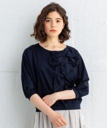 LANVIN en Bleu/リボン&ラッフルフリルTシャツ/501581924