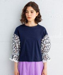 LANVIN en Bleu/レーシーキャンディ袖Tシャツ/501581925