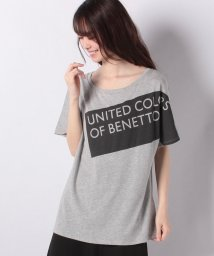 BENETTON (women)/モダールロゴ半袖Tシャツ・カットソー/501948240