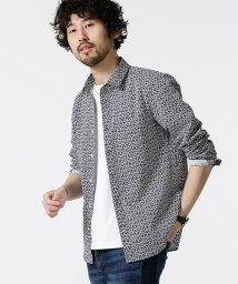 nano・universe/小花柄ショートカラーシャツ/501954197