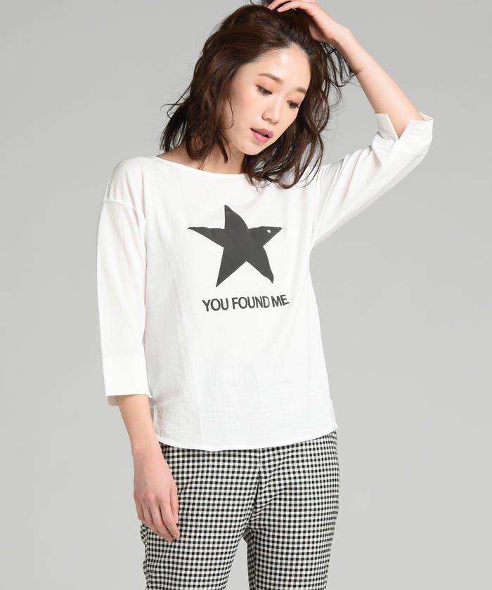 STARプリントカットソー