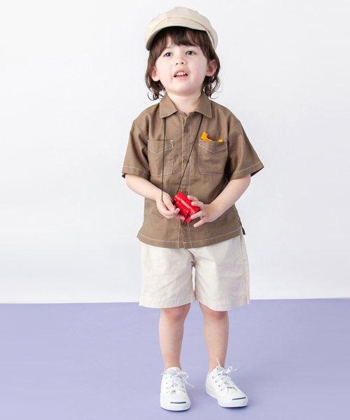 petit main(プティマイン)/オープンカラーシャツ/9591234