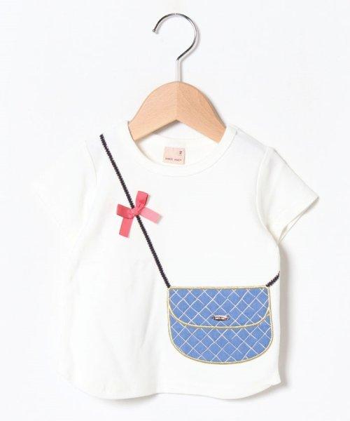 petit main(プティマイン)/バッグトロンプルイユTシャツ/9691247
