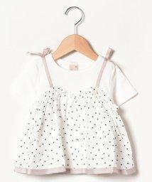 petit main/ドットキャミドッキングTシャツ/501959494