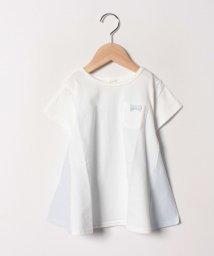 LAGOM/オーガビッツストライプ切替フレアTシャツ/501959811