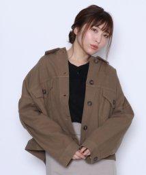LASUD/【ラディエイト RADIATE】バックボタン ショート丈 カラーGジャン/501963353