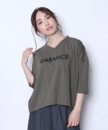 LASUD/【ミルポア MIREPOIX】GARANCE ロゴプリント 7分袖 カットソー/501963359