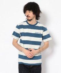 Schott/INDIGO BORDER POCKET T-SHIRT/インディゴ ボーダー ポケットTシャツ/501968857