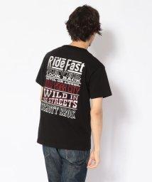 Schott/EMBROIDERED T-SHIRT RIDE MESSAGE/刺繍Tシャツ ライドメッセージ/501968862