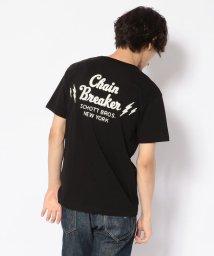 Schott/EMBROIDERED T-SHIRT CHAIN BREAKER/刺繍Tシャツ チェーンブレイカー/501968863