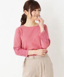 pink adobe/袖口レースニット/501970548