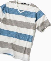 SHIPS MEN/SC: MADE IN JAPAN ワイドボーダー Vネック Tシャツ 19SS/501970610
