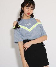 PINK-latte/★ニコラ掲載★レイヤード風肩あき トップス/501971139