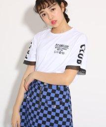 PINK-latte/袖メッシュレイヤード Tシャツ/501971140