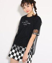 PINK-latte/チュール重ね Tシャツ/501971141