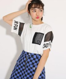 PINK-latte/メッシュポケット Tシャツ/501971143