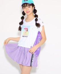 PINK-latte/水着 スポ水着+転写プリントTシャツ+プリーツスカートセット/501971152