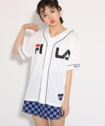 PINK-latte/【FILA】ベースボールシャツ/501971156